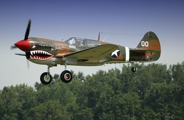 P-40 Warhawk landing