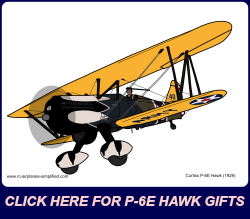 Curtiss P-6E Hawk Link to Gifts page