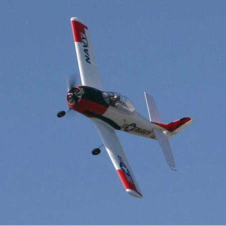 Parkzonr T-28 Trojan flying