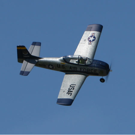 Parkzone T-28 flying 450p