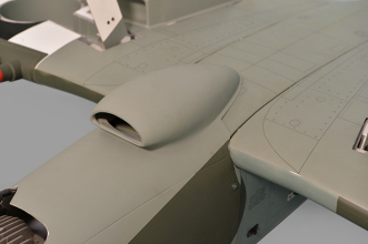 Phoenix Models Spitfire 50-61cc:Air cooler intake.