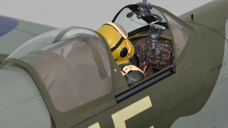 Phoenix Models Spitfire 50-61cc:Cockpit canopy in open position