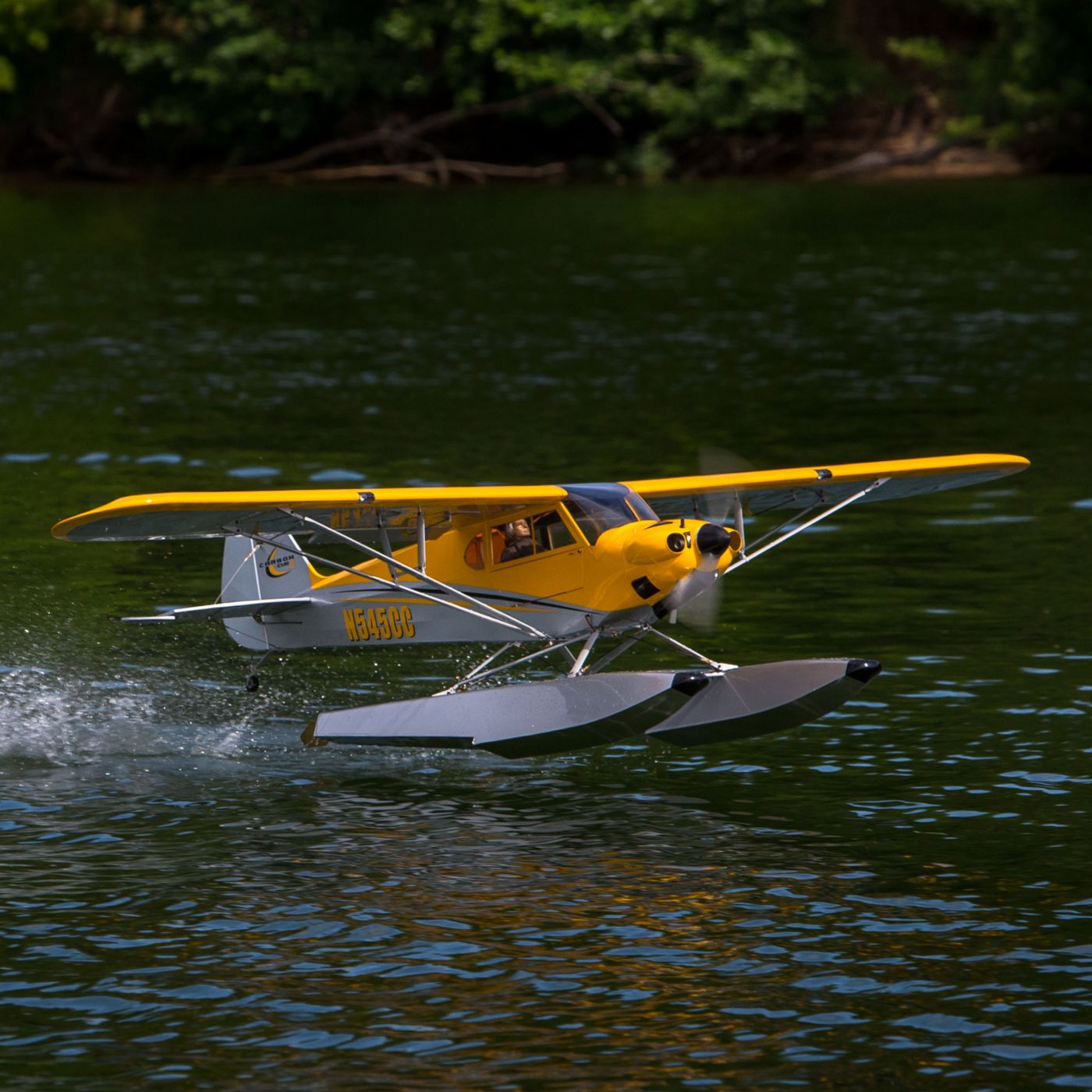 Hangar 9 Carbon Cub RC Airplane: On the lake.