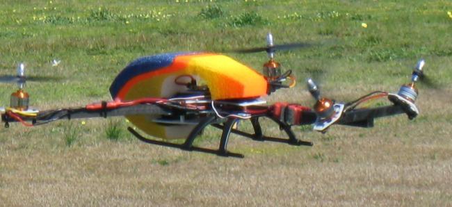 CW VT Quad flying