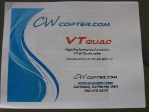 CW Quadrotor manual
