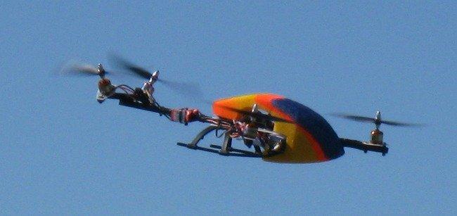 CW Quadrotor flying