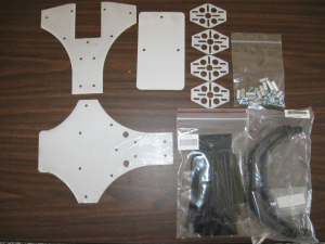 CW Tricopter frame components