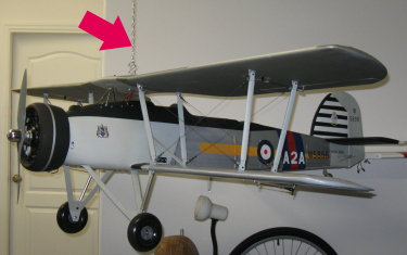 Fairey Swordfish 1/5 scale RC airplane.