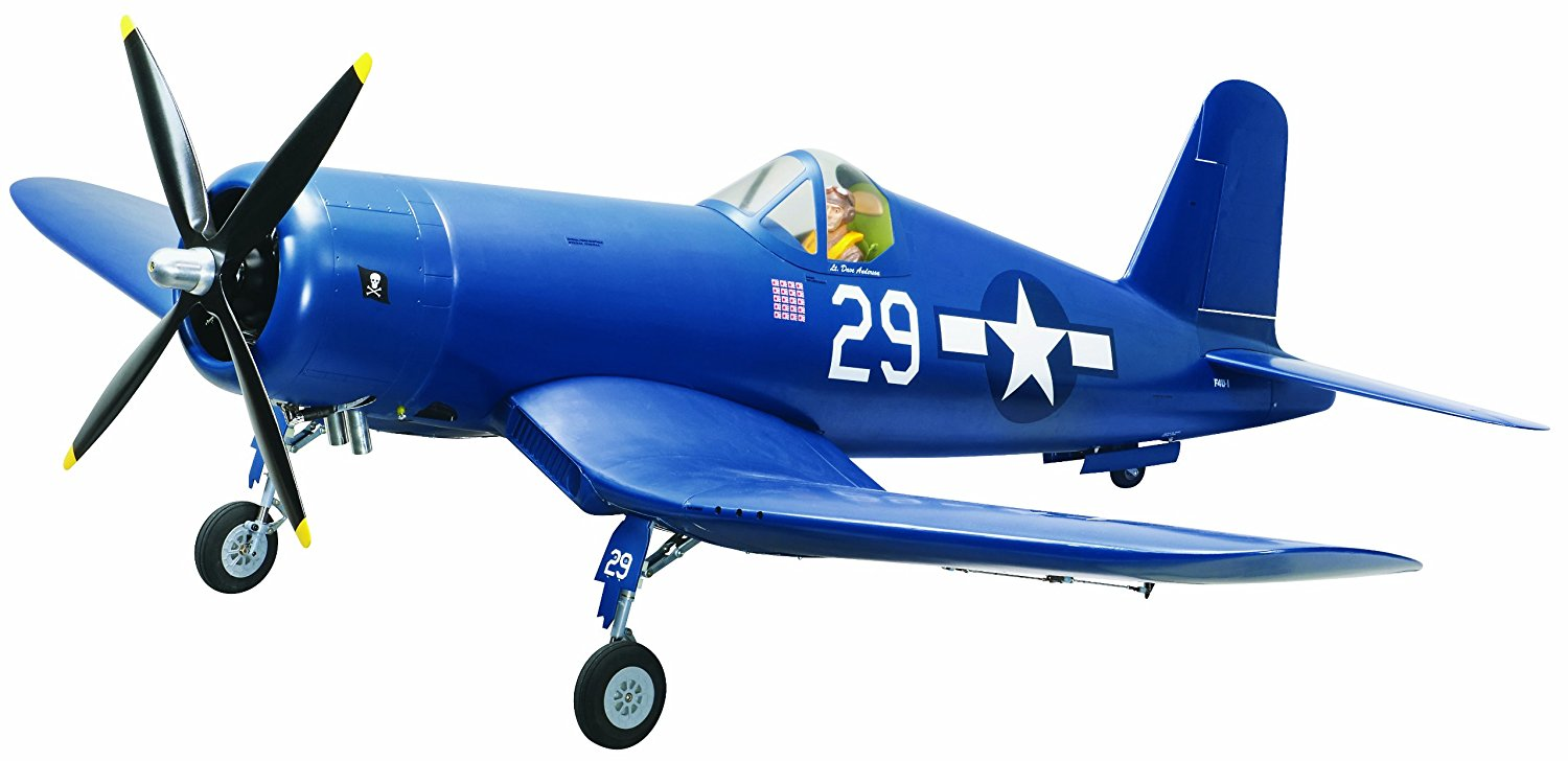 The Top Flite RC Corsair ARF 50cc Giant Scale Warbird.
