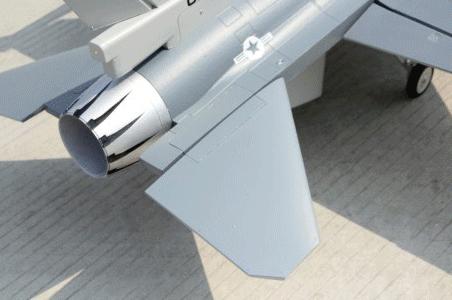 HSD F-16 Gray tailplane