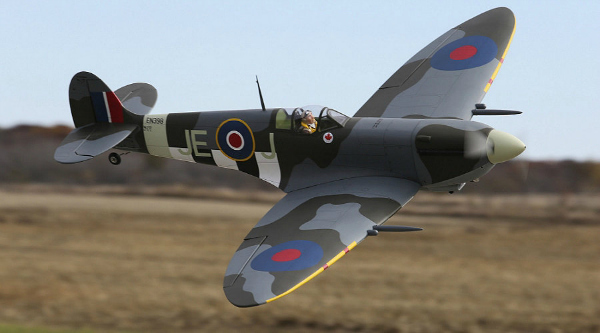 Low level flyby of the Spitfire Mk IXc 30cc ARF by Hangar 9