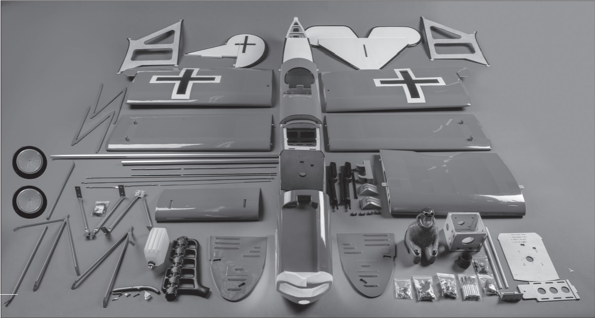 Hangar 9 RC Fokker D7 ARF Parts.
