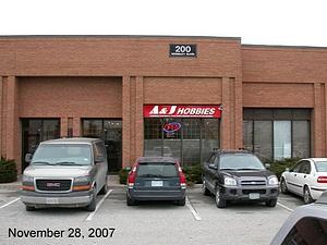 View of A&J Hobbies Toronto
