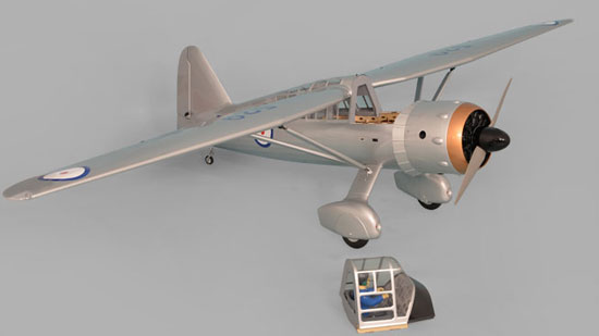 Hatch removed on Phoenix Models large scale Westland Lysander.