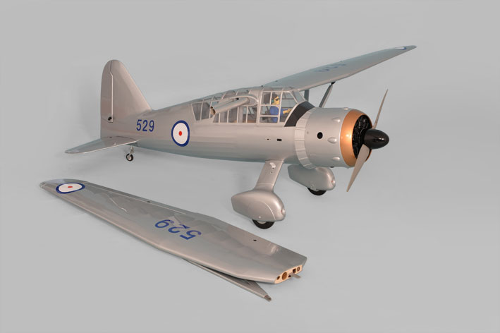 Phoenix Models large scale Westland Lysander. Photo showing one wing removed