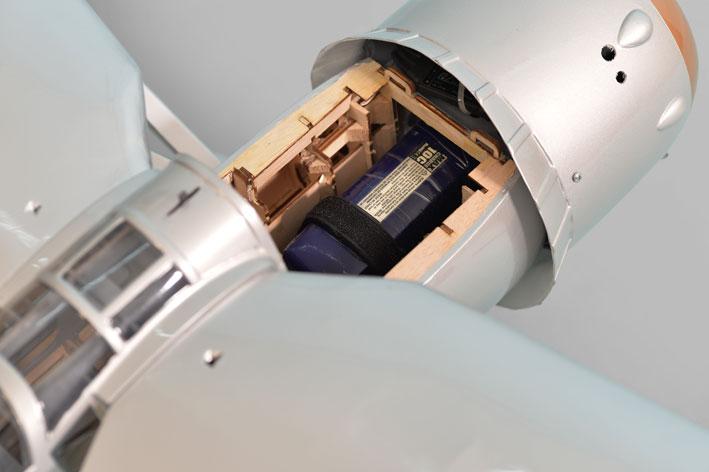Phoenix Westland Lysander 46 battery compartment.