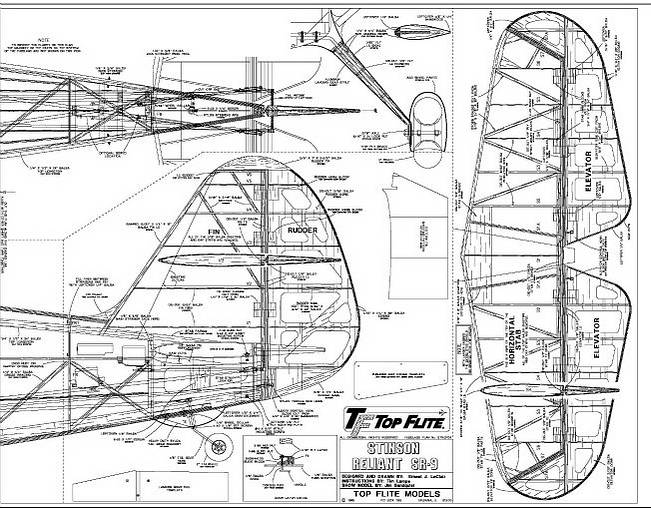 rc model airplane kits  the top flite stinson reliant