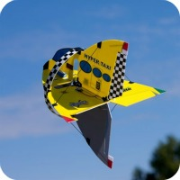 The E-Flite UMX Hyper Taxi flying