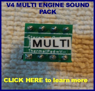 Multi engine sound pack for Mr RC Sound V4.1 base unit