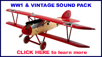 WW1 and vintage engine sound pack for Mr RC Sound V4.1 base unit