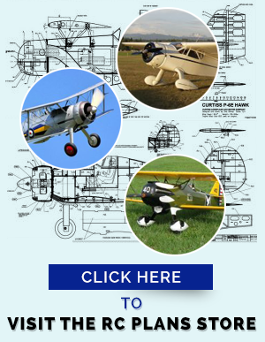 RC airplane plans advertisement logo