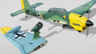 Phoenix RC Stuka JU 87 wing removal system