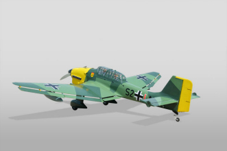 Phoenix Models RC Stuka:3/4 rear view