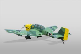 Phoenix Models RC Stuka:3/4 rear view