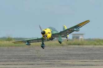 Phoenix Models RC Stuka: Landing