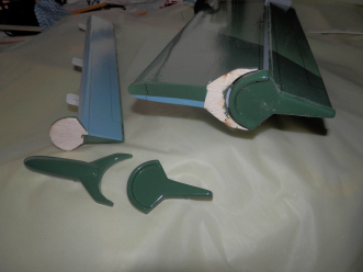 Phoenix Models RC Stuka:Aileron end moldings
