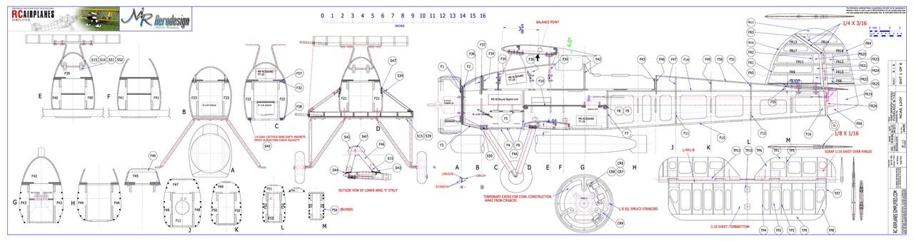 RC Fairey Swordfish -1/10 scale. Plans-Fuselage.