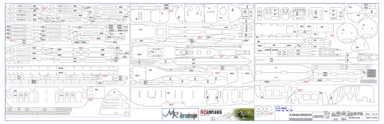 RC Fairey Swordfish -1/10 scale. Plans-Parts.