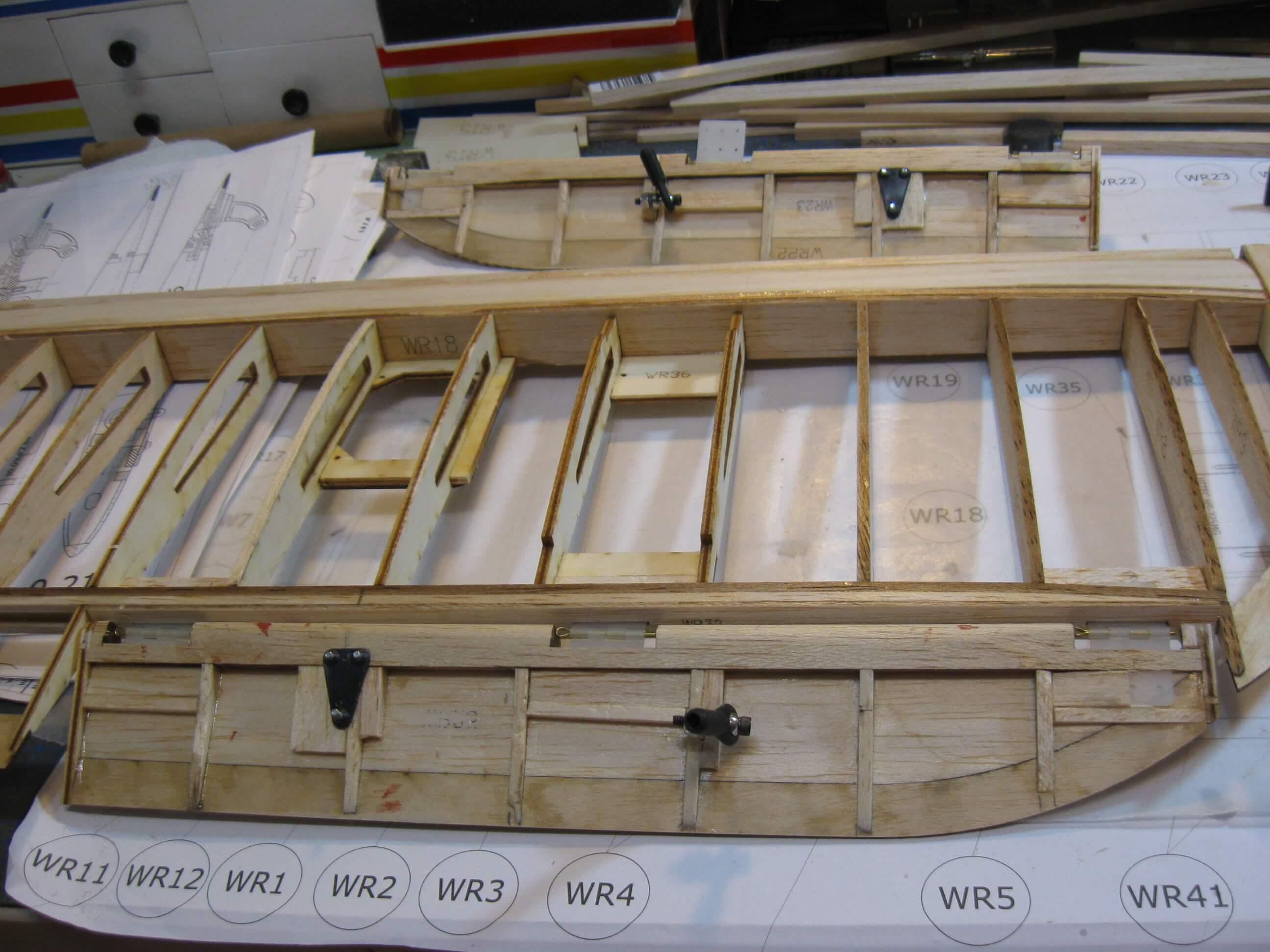 RC Fairey Swordfish construction:Top Wing