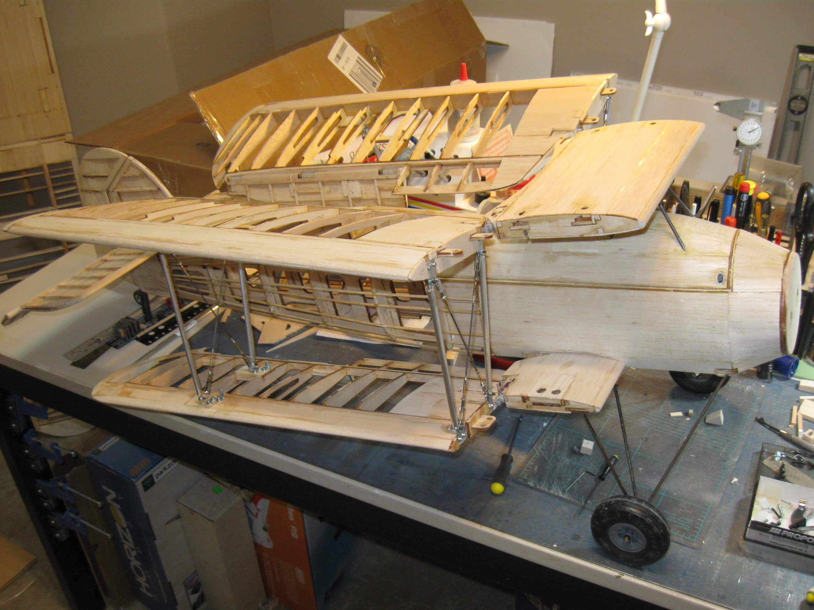 RC Fairey Swordfish construction:Wings Folded