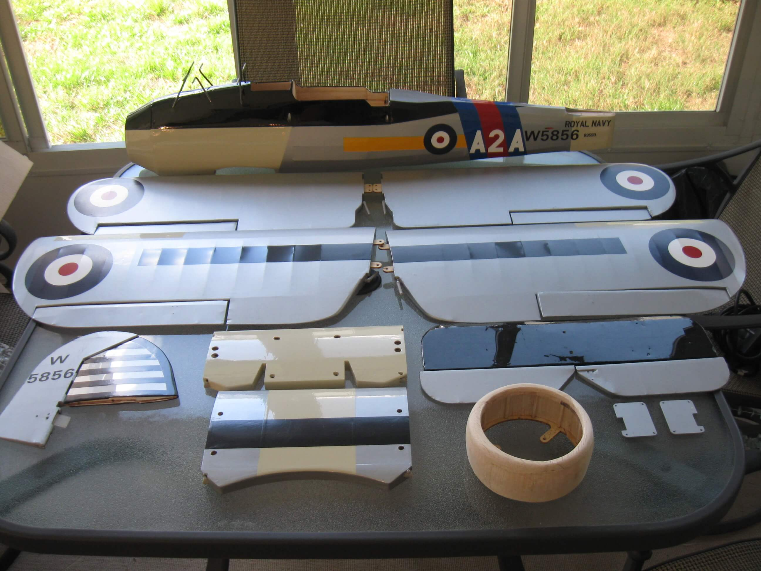 RC Fairey Swordfish: Finished Components