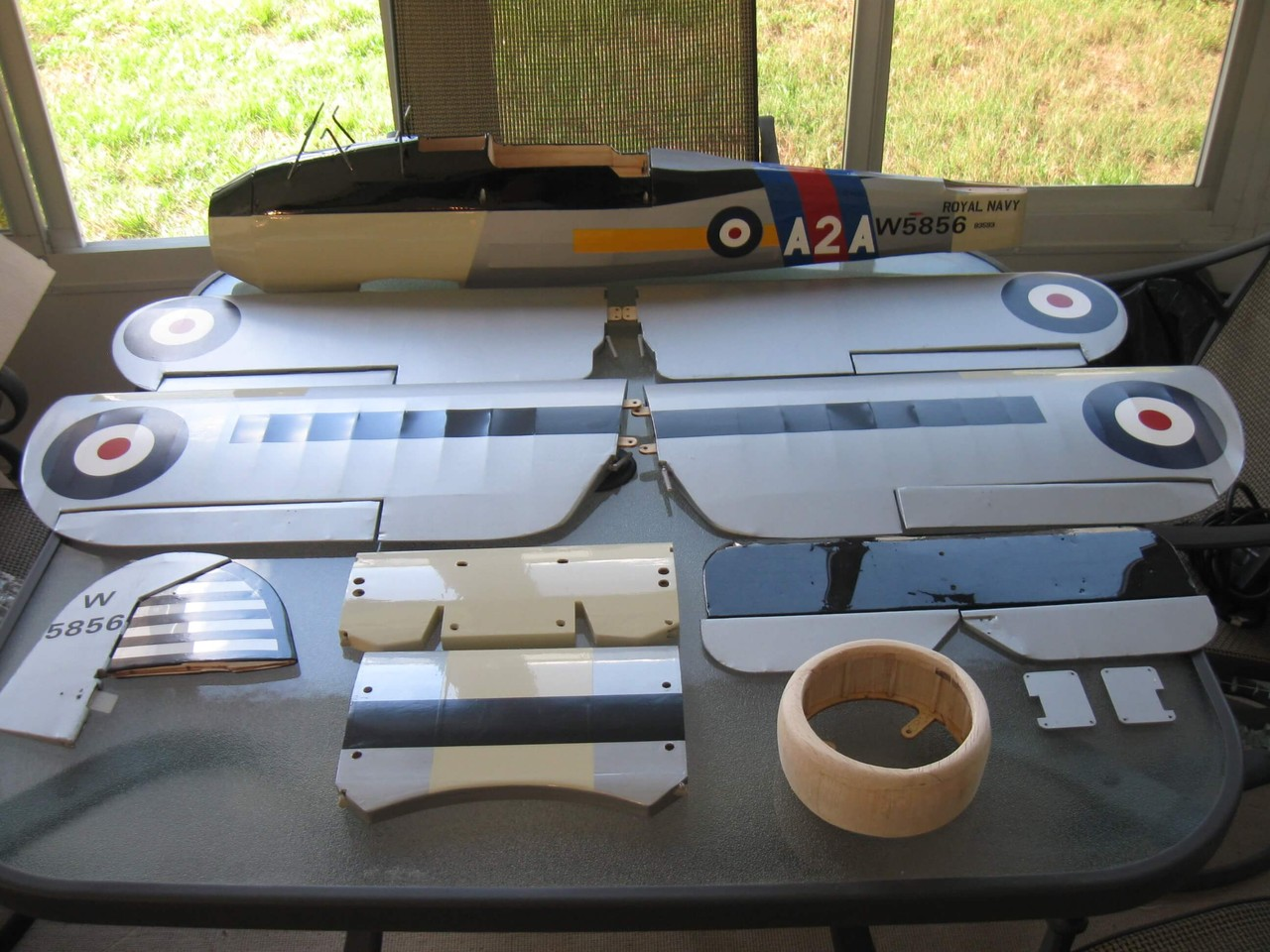 RC Fairey Swordfish -1/10 scale. All parts covered.