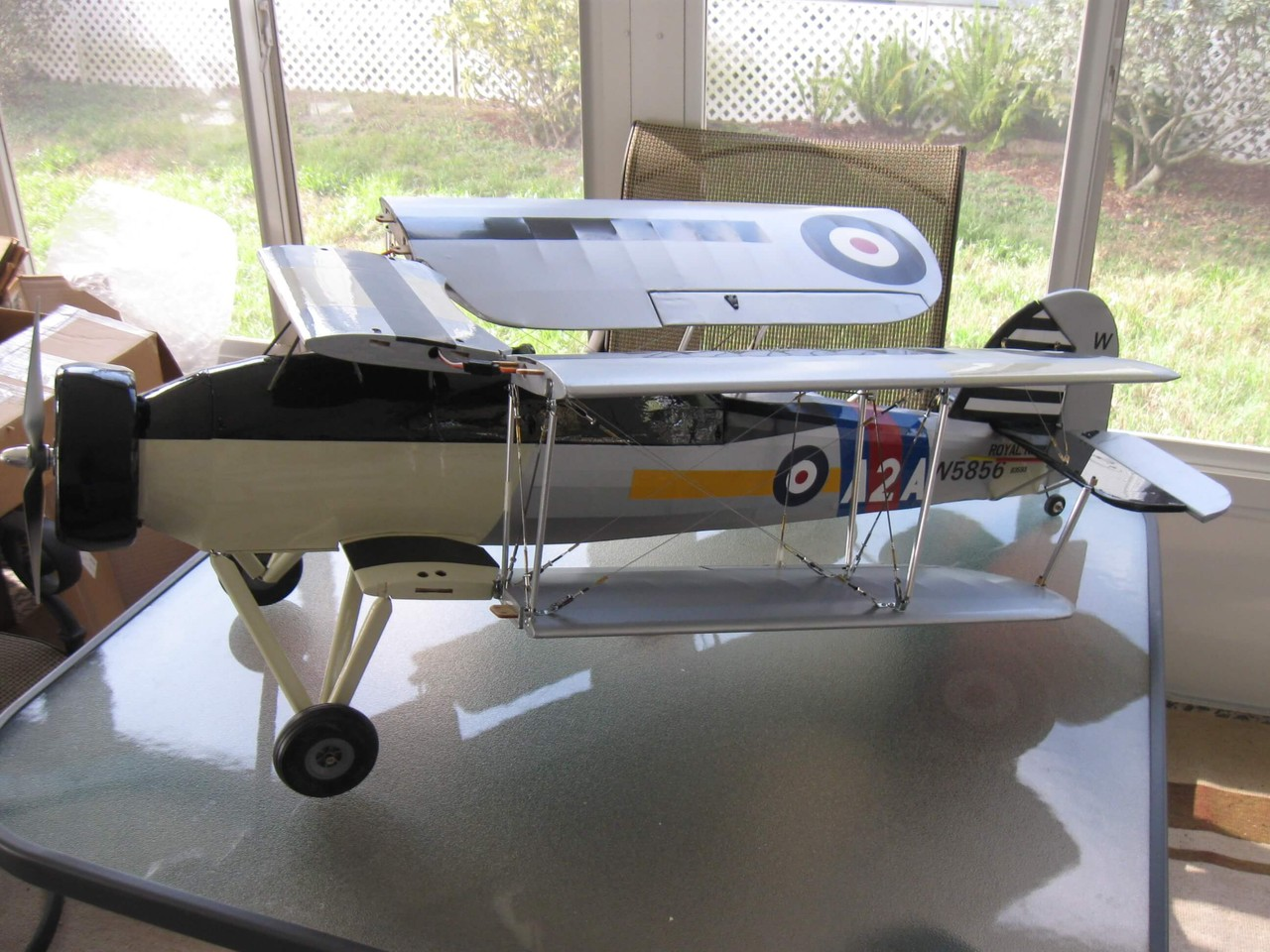 RC Fairey Swordfish -1/10 scale. Wings folded and ready to transport.
