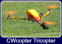 CWCopter Tricopter flying