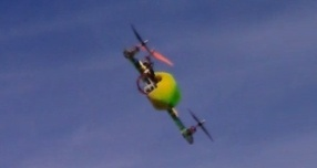 CW Tricopter flying