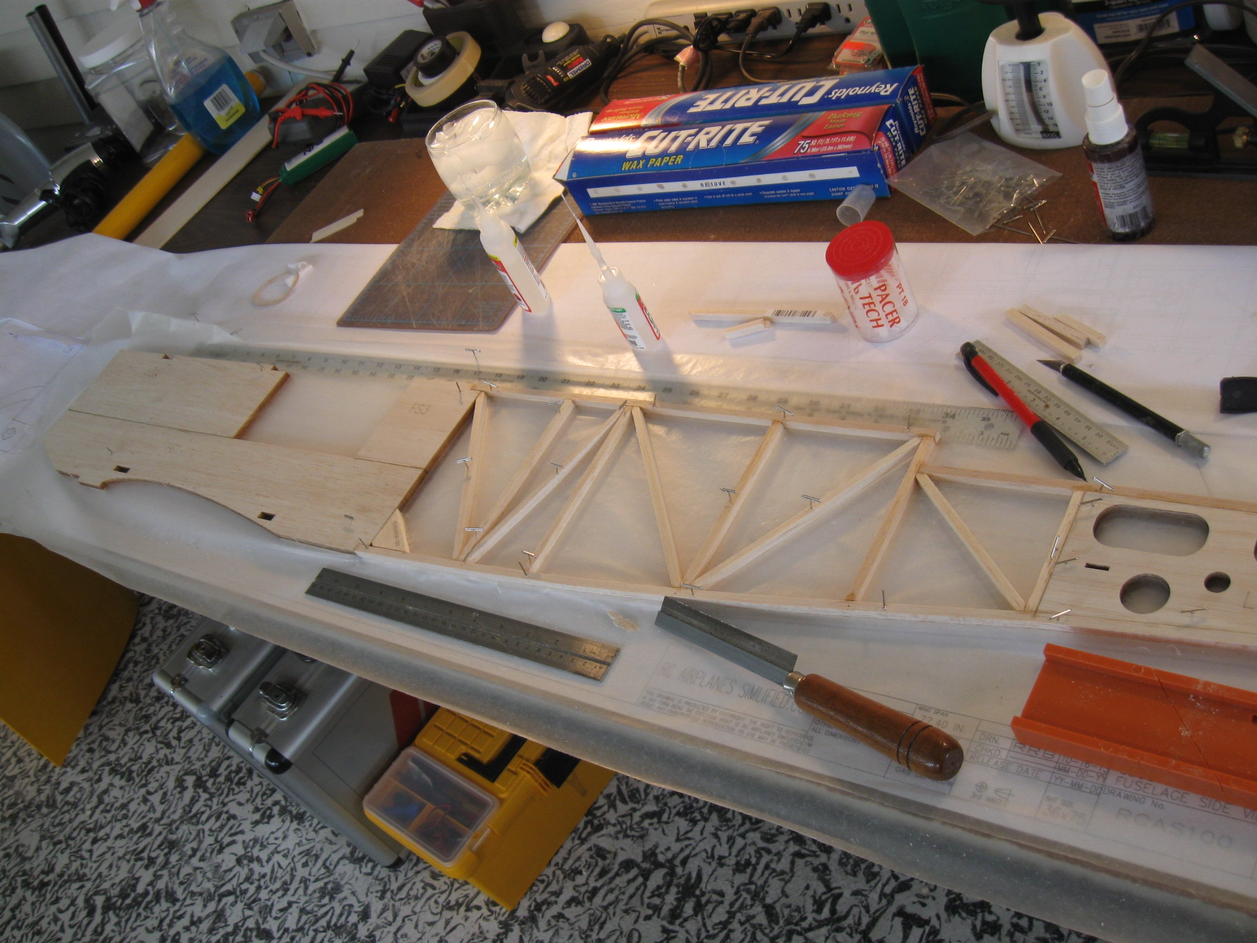 RC Gladiator Construction: Fuselage side.
