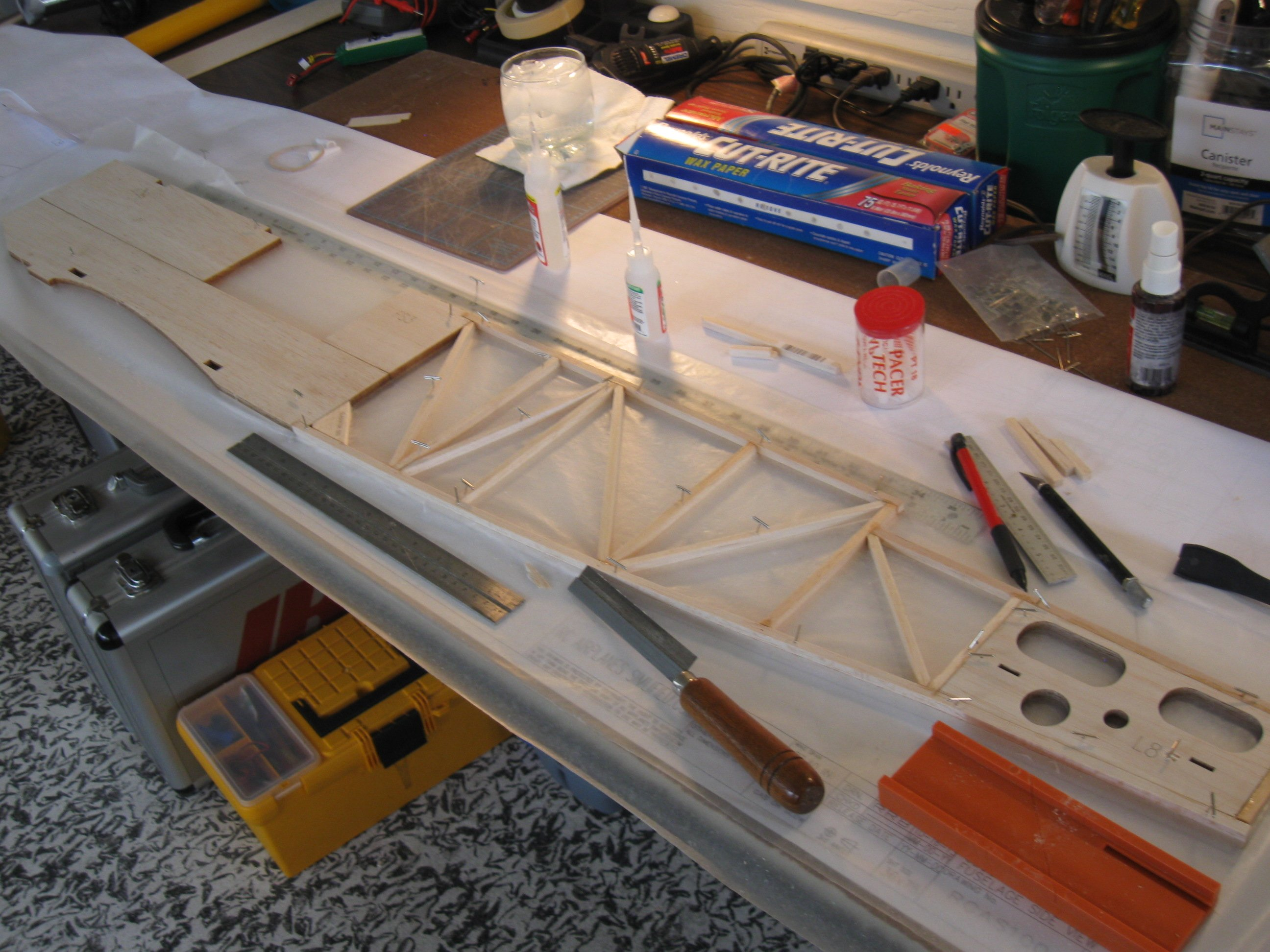 RC Gladiator fuselage side construction