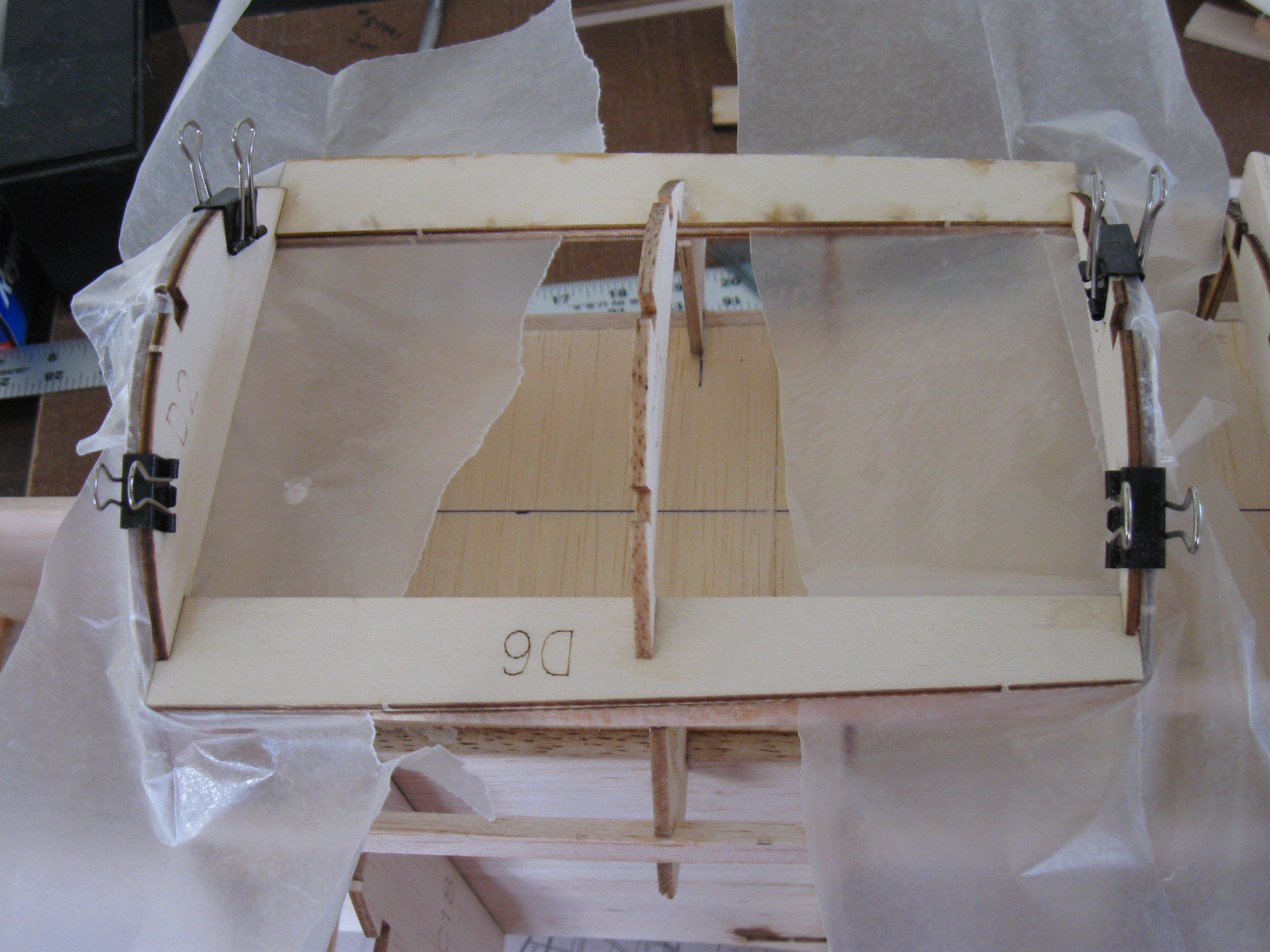 RC Gladiator Construction: Start of hatch construction.