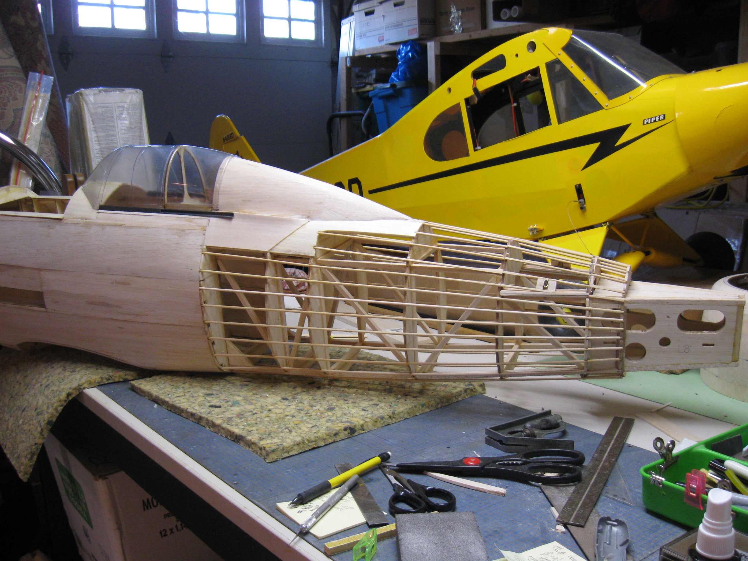 RC Gladiator Construction: Completing Fuselage