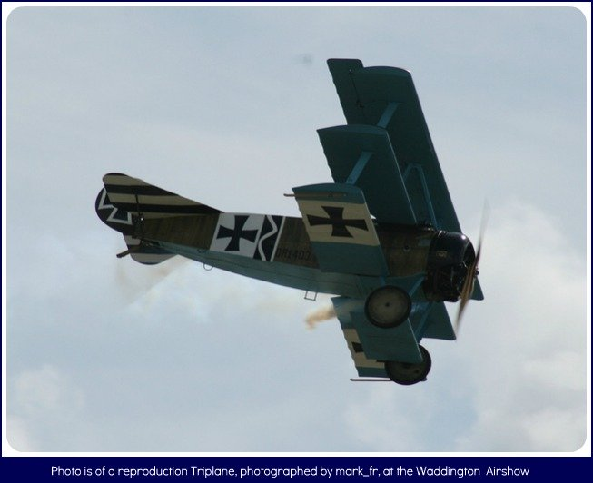 Fokker Triplane flying by