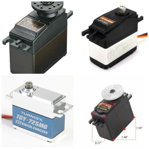 Collage of 4 high torque servos
