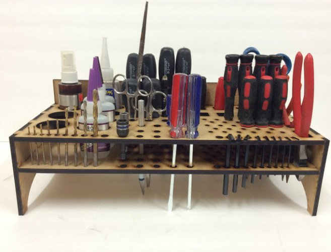 Desk Top Organizer with Tools