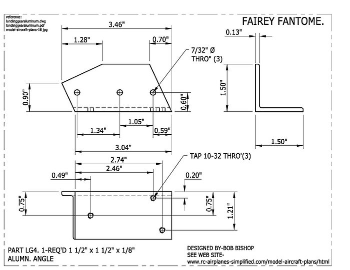 Fairey Fantome 1/5 scale RC airplane: landing gear part