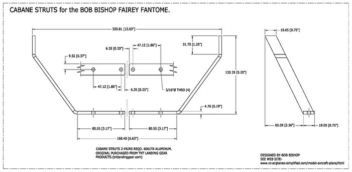 Fairey Fantome 1/5 scale RC airplane: Cabanes