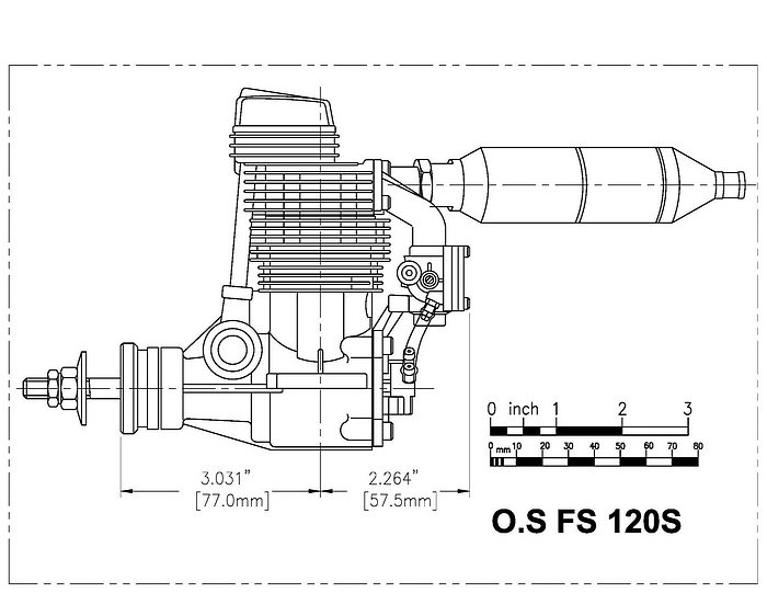 OS FS120 CAD side view
