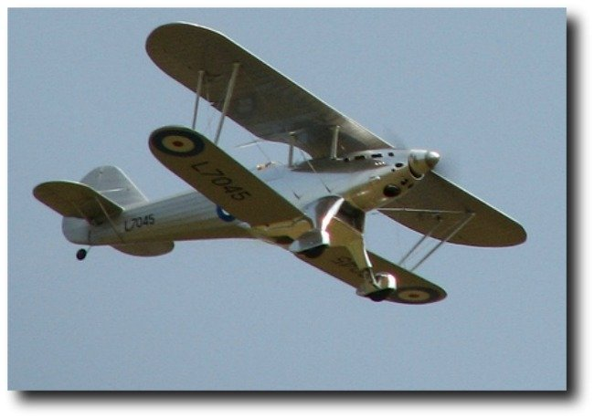 RC Model of the Fairey Fantome flying by.